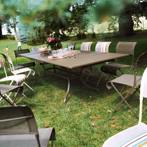 table rallonges romane fermob piment