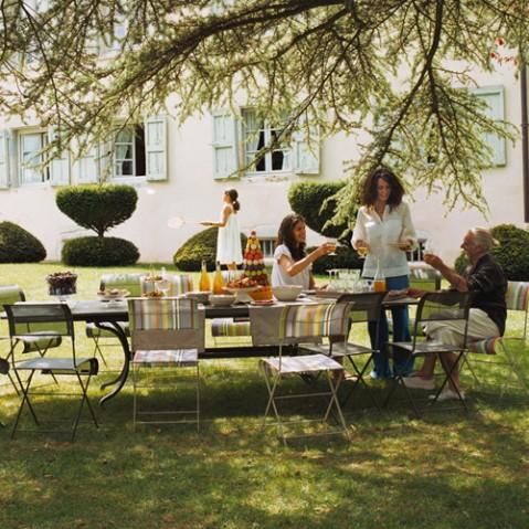 table rallonges romane fermob miel