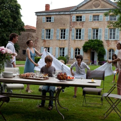 table rallonges romane fermob rouille