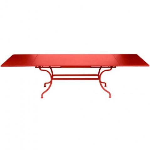 table rallonges romane fermob coquelicot