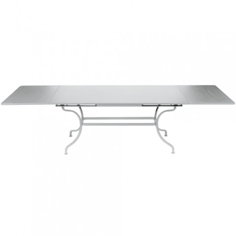 table rallonges romane fermob gris metal