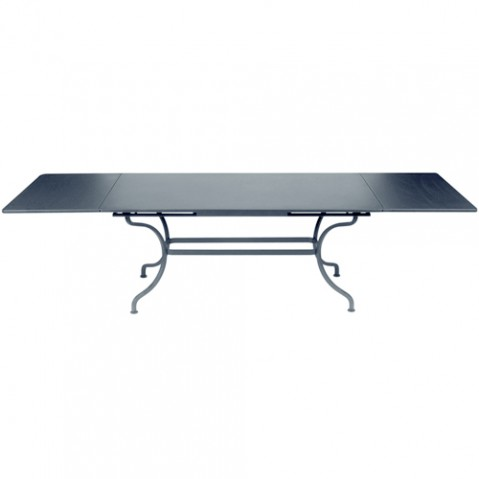 table rallonges romane fermob gris orage