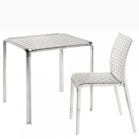 table ami ami kartell cristal acier