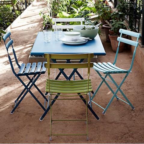 table pliante arc en ciel 110 emu vert