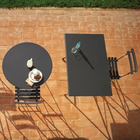 TABLE PLIANTE ARC EN CIEL, 110X70, Fer ancien de EMU
