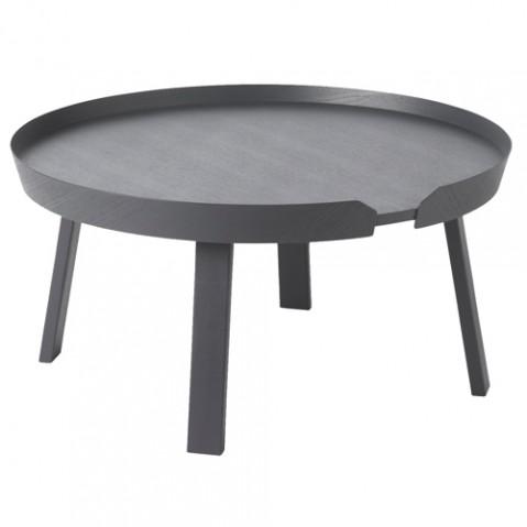 table basse around large muuto anthracite