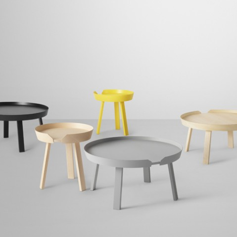 table basse around small muuto noir