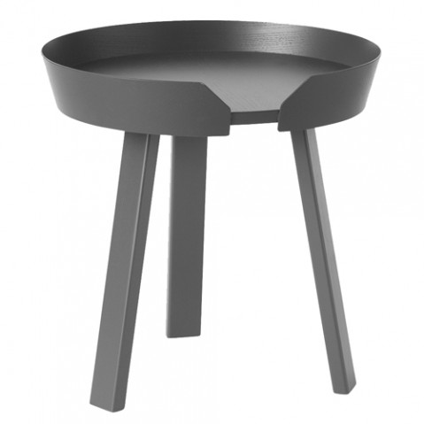 table basse around small muuto anthracite