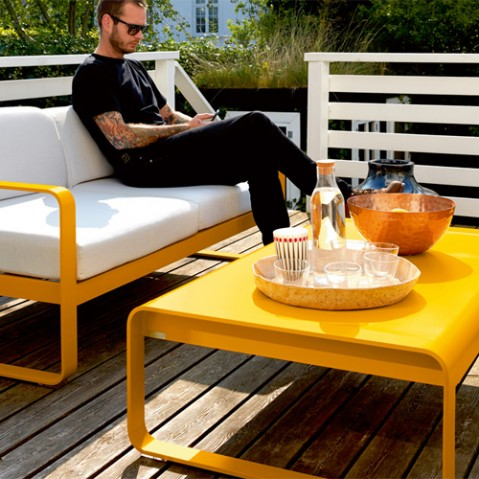 table basse bellevie fermob blanc