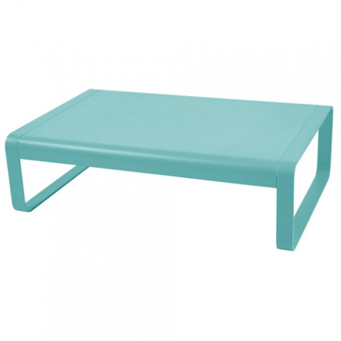 table basse bellevie fermob bleu lagune