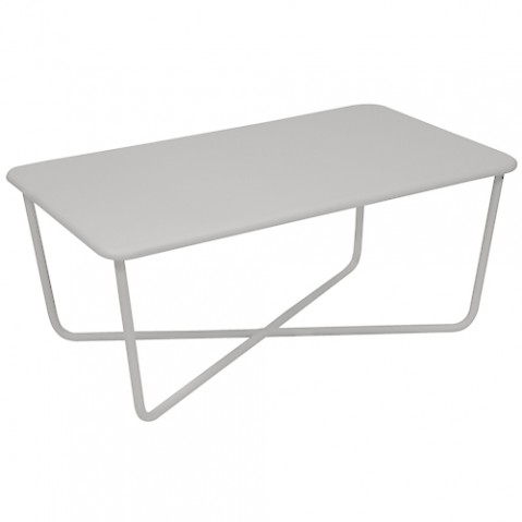 table basse croisette fermob gris metal