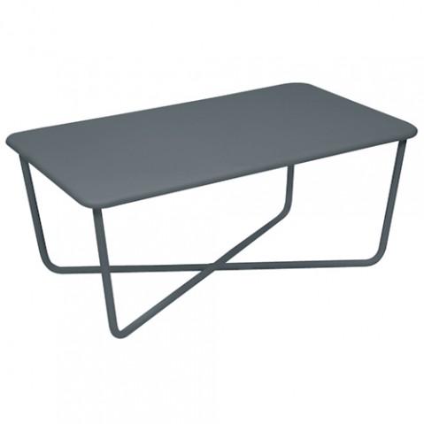 table basse croisette fermob gris orage