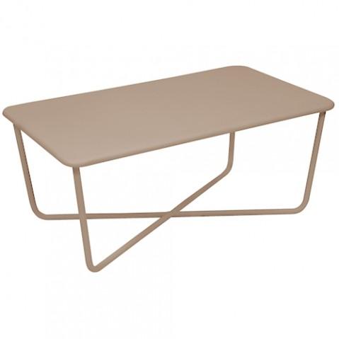 table basse croisette fermob muscade