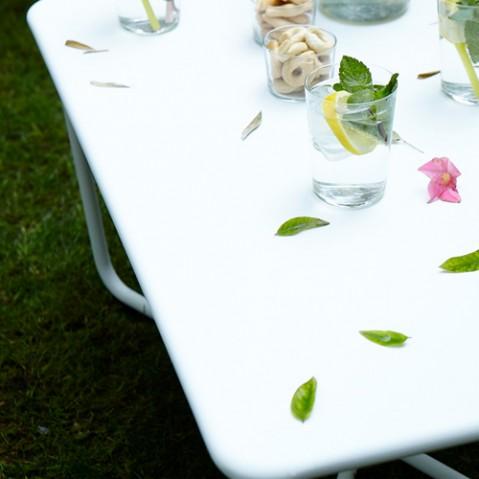 table basse croisette fermob romarin