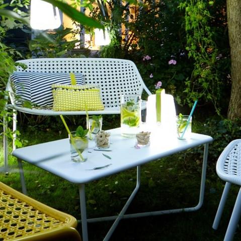 table basse croisette fermob cedre