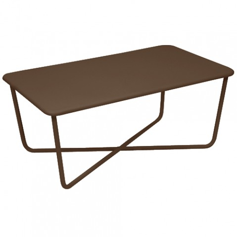 table basse croisette fermob rouille