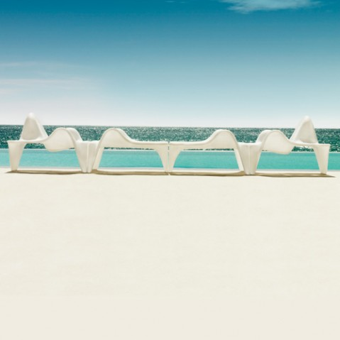 table basse f3 vondom blanc