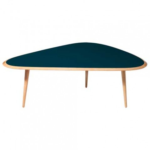 table basse fifties large red edition bleu paon