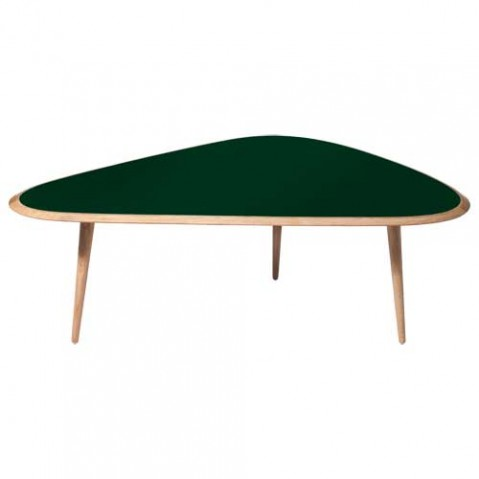 table basse fifties large red edition vert fonce