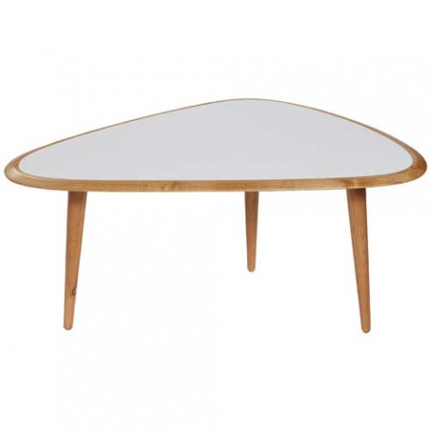 table basse fifties small red edition blanc