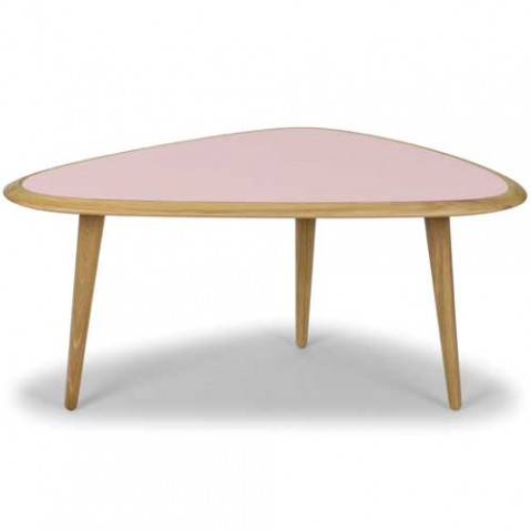 table basse fifties small red edition rose