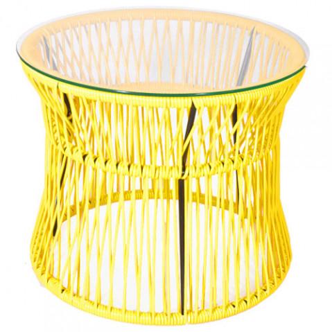 table d 39 appoint ita jaune de boqa. Black Bedroom Furniture Sets. Home Design Ideas