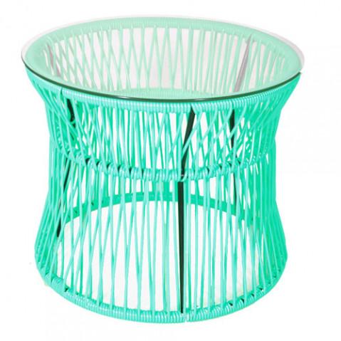 table basse ita boqa vert turquoise
