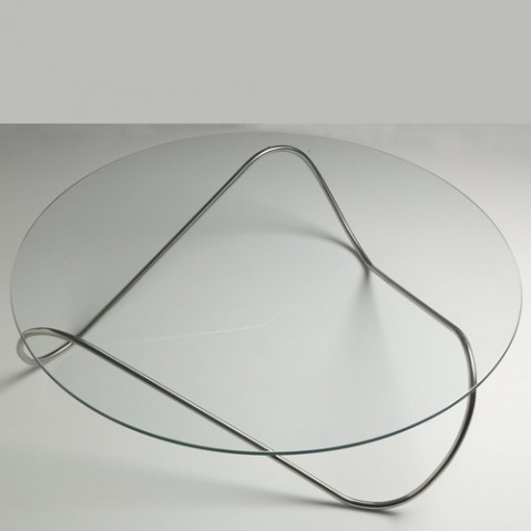 kaeko table basse structure inox verre transparent de. Black Bedroom Furniture Sets. Home Design Ideas