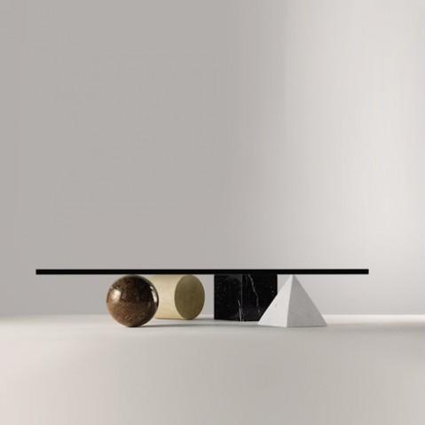 table basse metafora martinelli luce marbre blanc