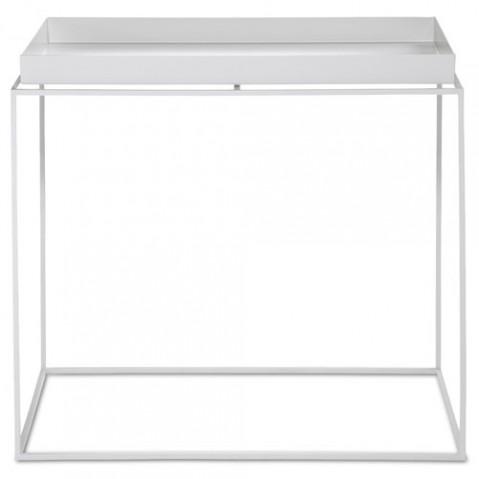 table basse tray 40 60 hay blanc