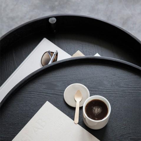 table basse turning menu frene cuivre