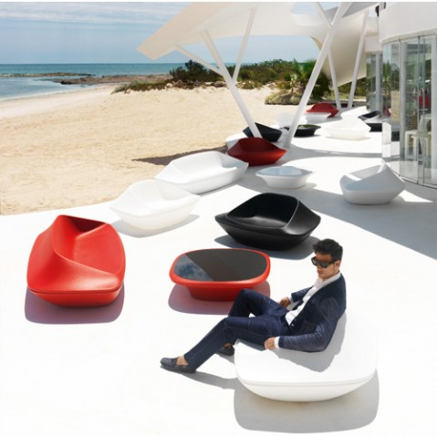 table basse ufo vondom rouge