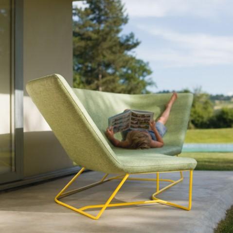 fauteuil ultrasofa fermob carbone perle