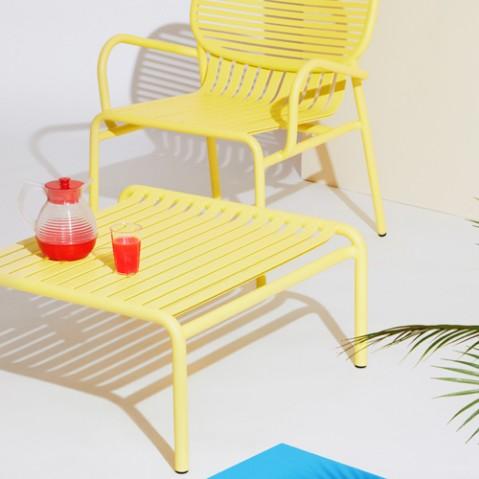 table basse week end petite friture jaune