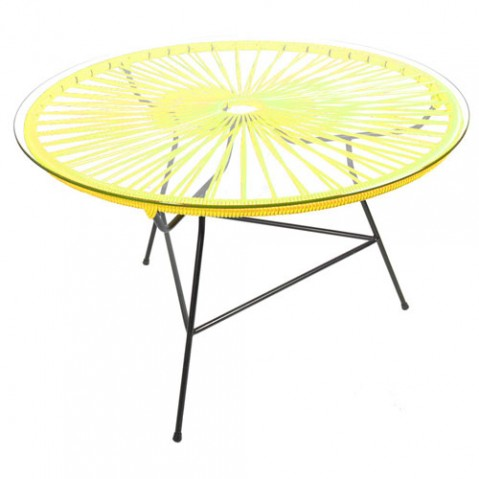 table basse zipolite boqa jaune