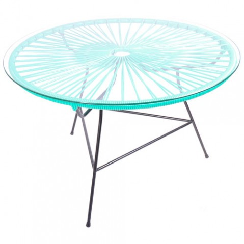 table basse zipolite vert turquoise de boqa. Black Bedroom Furniture Sets. Home Design Ideas