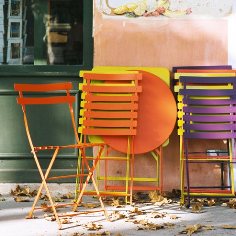 table bistro 71 fermob coquelicot