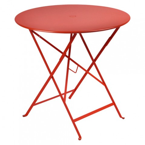 Table ronde pliante BISTRO de Fermob D.77 x H.74 cm Coquelicot