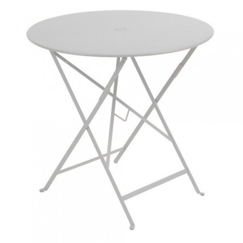 table ronde bistro 77 fermob gris metal