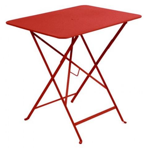 table rectangulaire 77 bistro fermob coquelicot