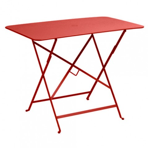 table rectangulaire 97 bistro fermob coquelicot