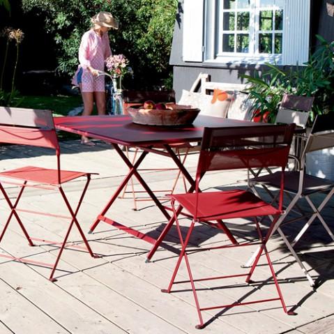 table pliante fermob caractere cedre