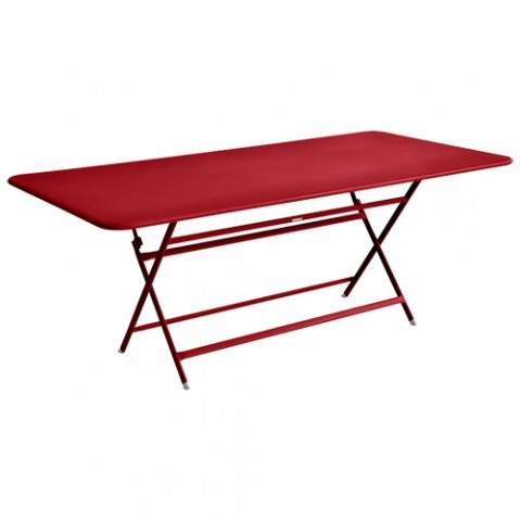 table caractere rectangulaire fermob coquelicot