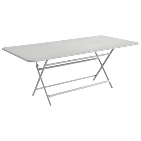 table caractere rectangulaire fermob gris metal
