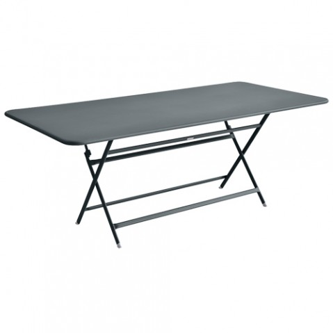 table caractere rectangulaire fermob gris orage