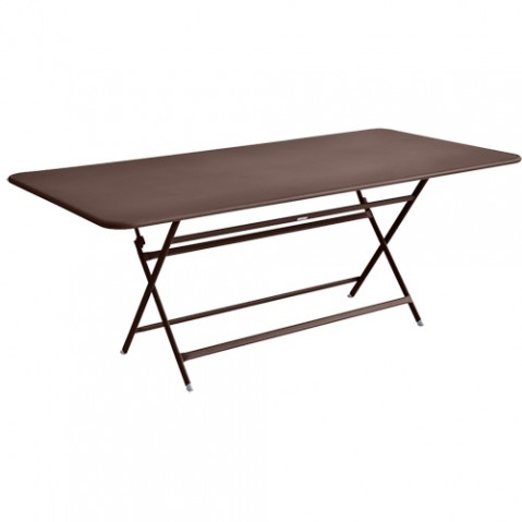table caractere rectangulaire fermob rouille