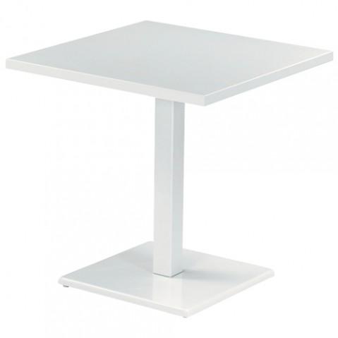 table carree round 70 emu blanc