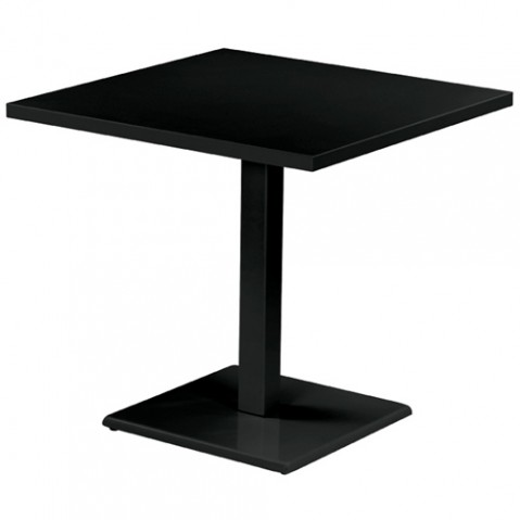 table carree round 70 emu noir