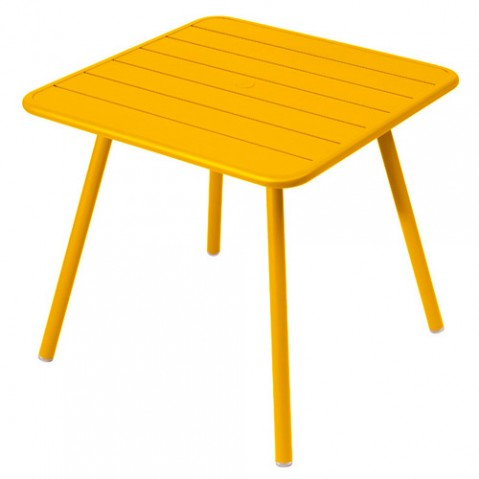 table luxembourg 80 4 pieds fermob miel