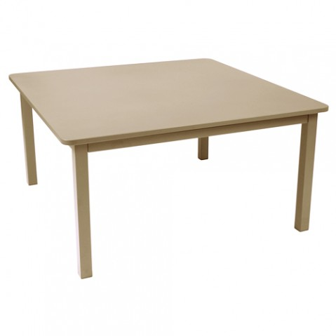 table carree craft fermob muscade